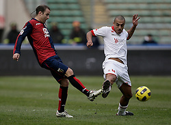 Bari (BA), 13-02-2011 ITALY - Italian Soccer Championship Day 25 - Bari VS Genoa..Pictured: Almiron (BA).Photo by Giovanni Marino/OTNPhotos . Obligatory Credit