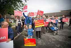 © Licensed to London News Pictures. 06/06/2017. Shildon UK. Labour protesters outside Foreign Secretary Boris Johnson speech today on the General Election campaign at Shildon Civic Hall in County Durham. Photo credit: Andrew McCaren/LNP