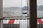 Ferry terminal window, Hong Kong