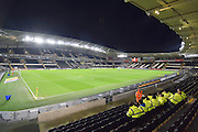 KC stadium before the Sky Bet Championship match between Hull City and Reading at the KC Stadium, Kingston upon Hull, England on 16 December 2015. Photo by Ian Lyall.
