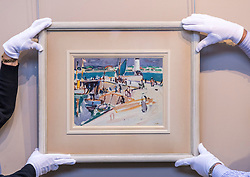Royan Harbour, a newly discovered painting by the Scottish colourist painter Samuel Peploe, leads the items in Bonhams next Scottish Art Sale. Royan Harbour, which is estimated at £70,000-100,000, was first owned by Mme Marie Marguerite Soulie, who was married to the English novelist and playwright Arnold Bennett from 1917-1921. Its whereabouts have been unknown to scholars until now. <br /> <br /> Pictured: Royan Harbour by Samuel Peploe which will be part of the sale