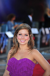 © Licensed to London News Pictures. 11/08/2011. London, England. Nikki Sanderson attends the U.K premiere of Cowboys and Aliens Starring Harrison Ford and Daniel Craig at the O2 Cineworld London Photo credit : ALAN ROXBOROUGH/LNP
