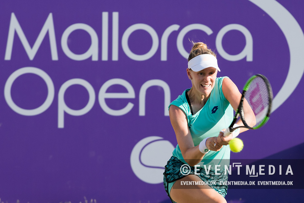 Alison Riske (USA) during the Mallorca Open at Country Club Santa Ponsa on June 22, 2018 in Mallorca, Spain. Photo Credit: Katja Boll/EVENTMEDIA.