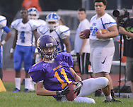 Upper Moreland's Ryan Cole #11 chases down the kickoff in the first quarter against Conwell-Egan Catholic at Upper Moreland High School Friday September 18, 2015 in Willow Grove, Pennsylvania.  (Photo by William Thomas Cain)