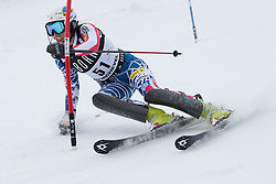 21.12.2010, Stade Emile Allais, Courchevel, FRA, FIS World Cup Ski Alpin, Ladies, Slalom, im Bild Hailey Duke (USA) attacks a control gate whislt competing in the FIS Alpine skiing World Cup ladies slalom race in Courchevel 1850, France. EXPA Pictures © 2010, PhotoCredit: EXPA/ M. Gunn