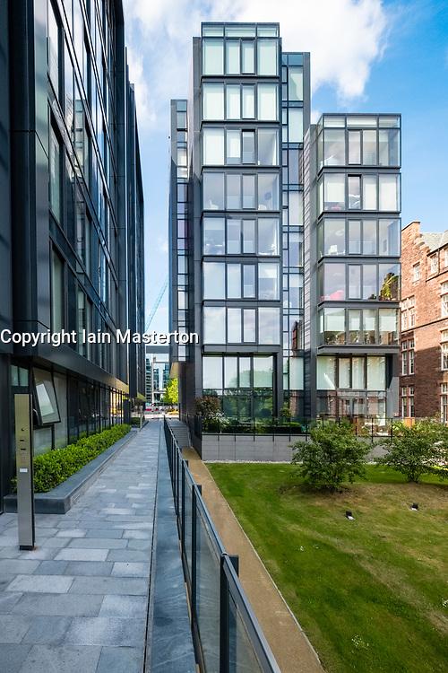 View of new Quartermile luxury residential property development in Edinburgh, Scotland, UK.