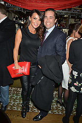 LIZZIE CUNDY and SIMON LEGGE at the 1st birthday of The House of Ho, 57-59 Old Compton Street, Soho, London on 22nd January 2015.