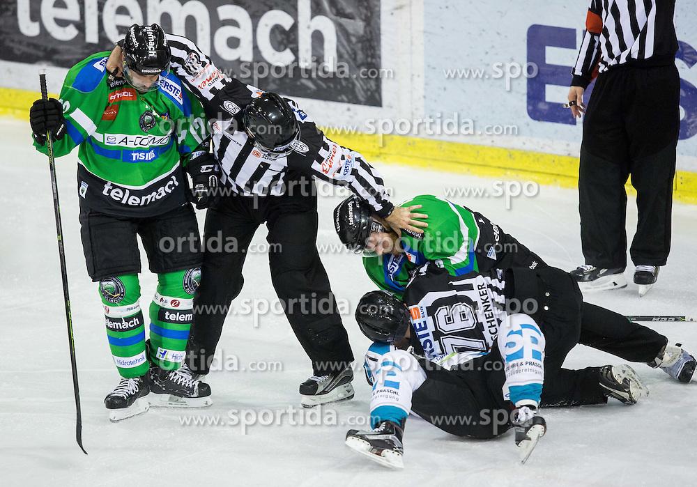 Guilaume Desbiens (HDD Olimpija), Rob Hisey (Black Wings Linz), Andrej Tavzelj (HDD Olimpija)