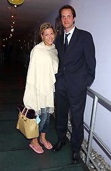 Left to right, the HON.EDWARD TOLLEMACHE and MISS SOPHIE JOHNSTONE at a polo players party hosted by AJM International Publishing and Cartier celebrating the 21st anniversary of the Cartier International Polo held at The Collection, London SW3 on 19th July 2005.<br /><br />NON EXCLUSIVE - WORLD RIGHTS