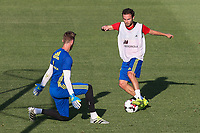 Spanish Juan Mata and David De Gea during the first training of the concentration of Spanish football team at Ciudad del Futbol de Las Rozas before the qualifying for the Russia world cup in 2017 August 29, 2016. (ALTERPHOTOS/Rodrigo Jimenez)
