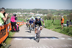 Tayler Wiles (USA) of Trek-Segafredo reaches the top of the Keutenberg during the Amstel Gold Race - Ladies Edition - a 126.8 km road race, between Maastricht and Valkenburg on April 21, 2019, in Limburg, Netherlands. (Photo by Balint Hamvas/Velofocus.com)