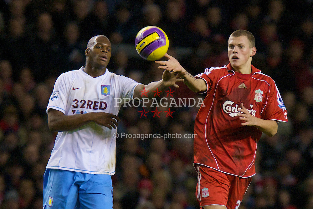 LIVERPOOL, ENGLAND - Monday, January 21, 2008: Liverpool's Martin Skrtel during the Premiership match against Aston Villa at Anfield. (Photo by David Rawcliffe/Propaganda)