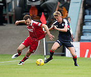 Aberdeen&rsquo;s Andrew Considine and Dundee&rsquo;s Mark O&rsquo;Hara tussle for the ball - Dundee v Aberdeen in the Ladbrokes Scottish Premiership at Dens Park, Dundee. Photo: David Young<br /> <br />  - &copy; David Young - www.davidyoungphoto.co.uk - email: davidyoungphoto@gmail.com