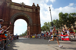 Martin Beckmann of Germany competes in the Mens Marathon during day six of the 20th European Athletics Championships at the roads of city Barcelona on August 1, 2010 in Barcelona, Spain. (Photo by Vid Ponikvar / Sportida)