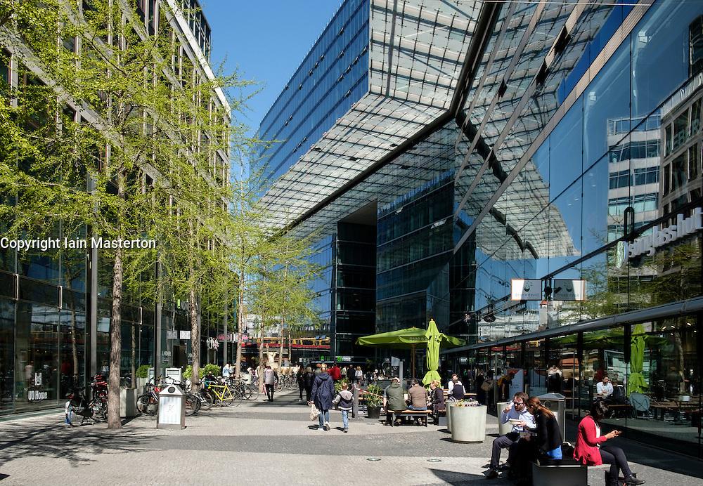 Modern architecture of shopping arcade off Kurfurstendamm,Kudamm , in Berlin Germany