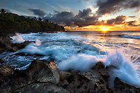Sunrise at Opihikao, on the Big Island of Hawaii