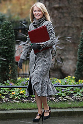 © Licensed to London News Pictures. 17/12/2019. London, UK. Minister of State for Housing Esther McVey arrives for the first meeting of the cabinet after the Conservatives won a majority in the 2019 General Election. Photo credit: Rob Pinney/LNP