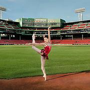 Lia Cirio at Fenway Park for Boston Ballet