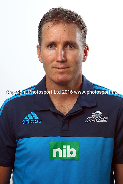 Troy Webber, Video Analyst, Blues 2016 Super Rugby player headshots, Blues headquarters, Auckland. 27 January 2016. Copyright photo: William Booth / www.photosport.nz