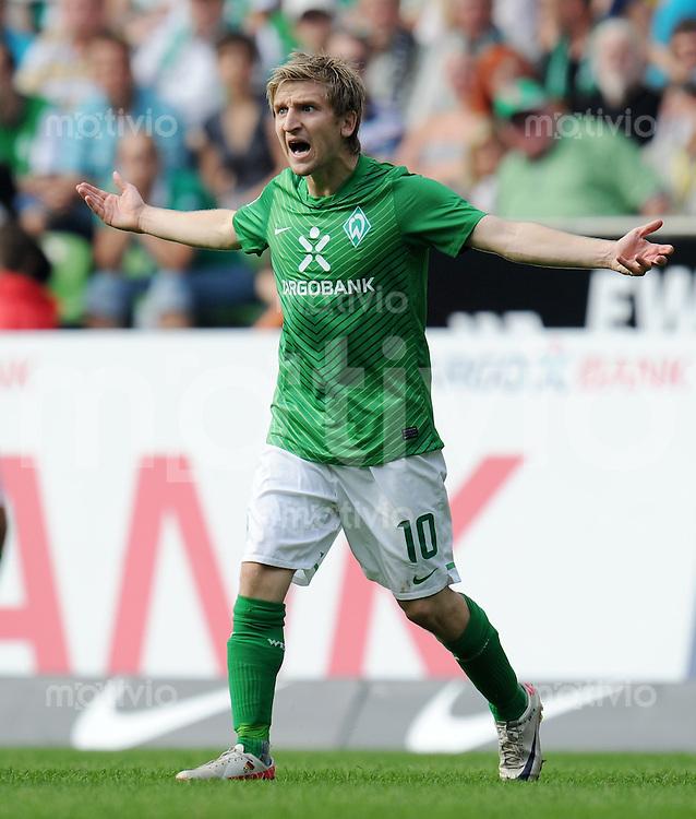 FUSSBALL   1. BUNDESLIGA   SAISON 2011/2012    3. SPIELTAG SV Werder Bremen - SC Freiburg                             20.08.2011 Marko MARIN (Bremen)