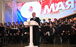 May 9, 2017 - Moscow, Russia - May 9, 2017. - Russia, Moscow. - Russian President Vladimir Putin speaks at the reception marking the 72nd anniversary of Victory in the 1941-45 Great Patriotic War. (Credit Image: © Russian Look via ZUMA Wire)