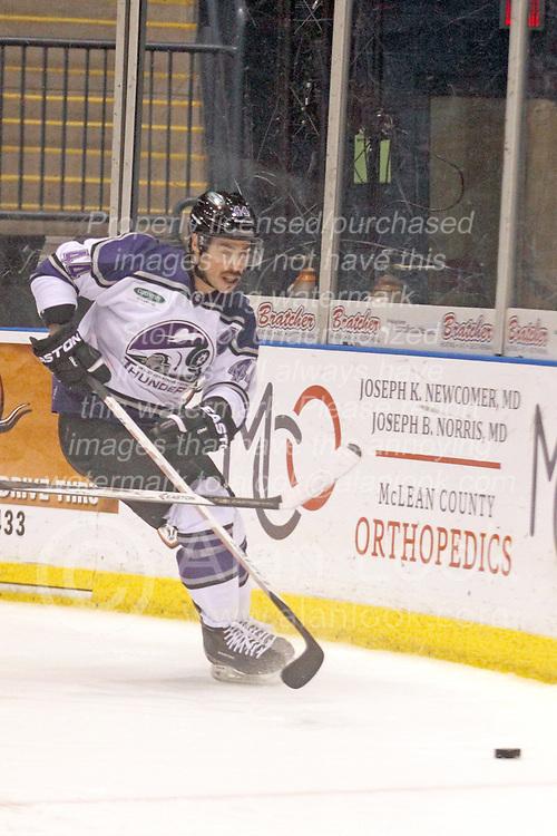 15 November 2013: Paul D'Agostino. Louisiana IceGators at Bloomington Thunder Southern Professional Hockey League (SPHL) at the U.S. Cellular Coliseum in Bloomington Illinois