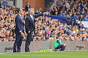 Pellegrini & Martinez during the Barclays Premier League match between Everton and Manchester City at Goodison Park, Liverpool, England on 23 August 2015. Photo by Simon Davies.