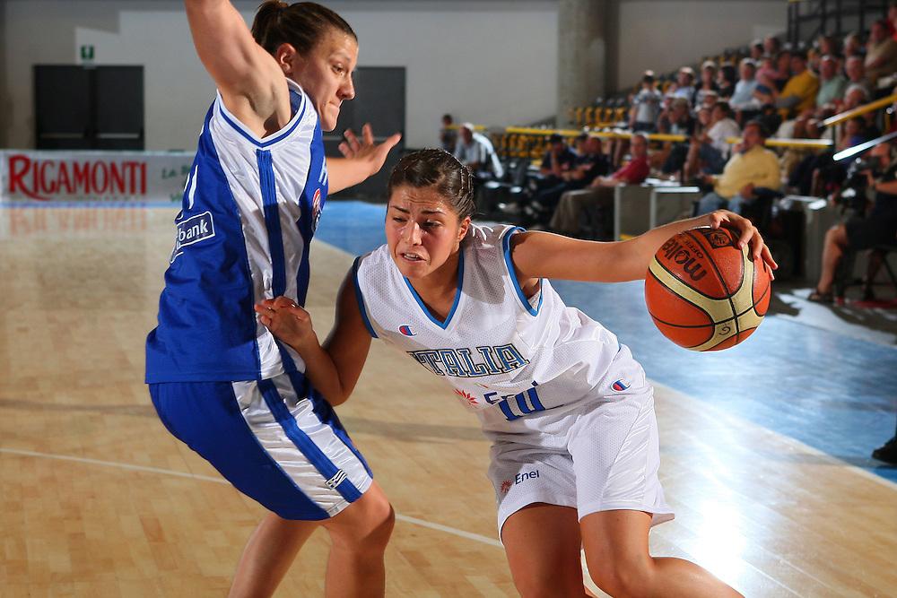 DESCRIZIONE : Bormio Torneo Internazionale Femminile Olga De Marzi Gola Italia Grecia <br /> GIOCATORE : Bagnara <br /> SQUADRA : Nazionale Italia Donne Italy <br /> EVENTO : Torneo Internazionale Femminile Olga De Marzi Gola <br /> GARA : Italia Grecia Italy Greece <br /> DATA : 24/07/2008 <br /> CATEGORIA : Penetrazione <br /> SPORT : Pallacanestro <br /> AUTORE : Agenzia Ciamillo-Castoria/S.Silvestri <br /> Galleria : Fip Nazionali 2008 <br /> Fotonotizia : Bormio Torneo Internazionale Femminile Olga De Marzi Gola Italia Grecia <br /> Predefinita :