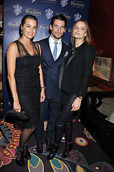 Left to right, YASMIN LE BON, DAVID GANDY and MASHA MARKOVA at the Johnnie Walker Blue Label and David Gandy partnership launch party held at Annabel's, 44 Berkeley Square, London on 5th February 2013.