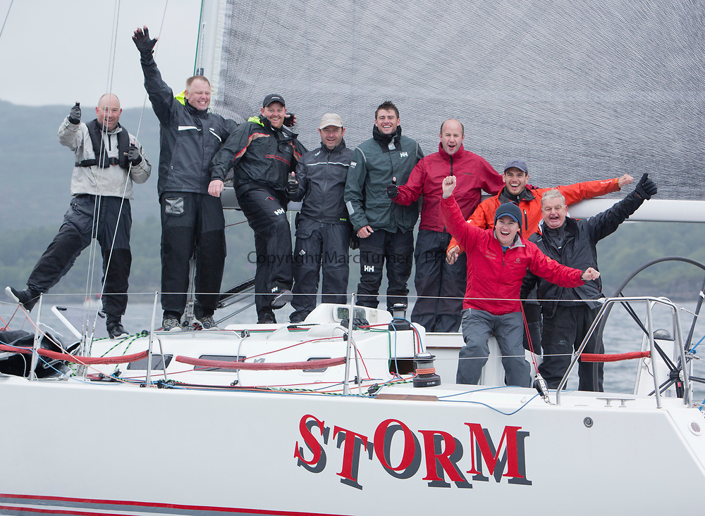 Silvers Marine Scottish Series 2017<br /> Tarbert Loch Fyne - Sailing<br /> <br /> IRL1141, Storm, Pat Kelly and Crew RC35 Fleet<br /> Credit: Marc Turner / CCC