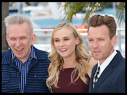Jury members Jean-Paul Gaultier, Diane Kruger and Ewan McGregor  at the opening day of the Cannes Film Festival, Wednesday  16th May 2012. Photo by: Stephen Lock / i-Images