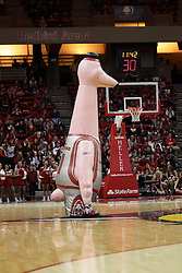 05 December 2015: Zooperstar Yao Flamingo. Illinois State Redbirds host the University of Alabama - Birmingham Blazers at Redbird Arena in Normal Illinois (Photo by Alan Look)