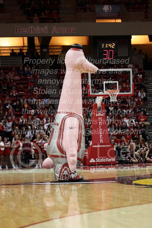 05 December 2015: Zooperstar Yao Flamingo. Illinois State Redbirds host the University of Alabama - Birmingham Blazers at Redbird Arena in Normal Illinois (Photo by Alan Look)