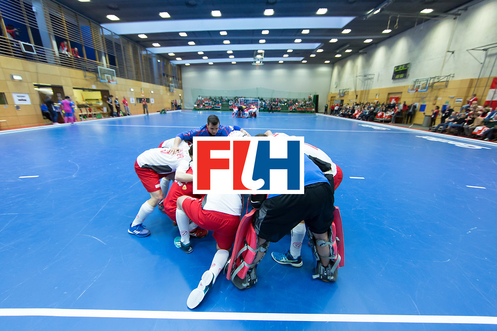 Hockey, Seizoen 2017-2018, 09-02-2018, Berlijn,  Max-Schmelling Halle, WK Zaalhockey 2018 MEN, Austria - Switzerland 2-2, Team Switzerland