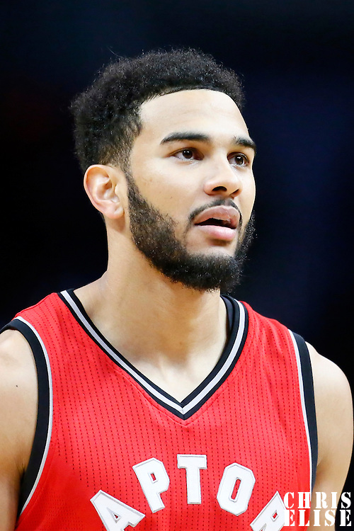 5 October 2016: Toronto Raptors guard Cory Joseph (6) rests during the Los Angeles Clippers 104-98 victory over the Toronto Raptors, at the Staples Center, Los Angeles, California, USA.