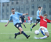 Tayport's Cammy Black and Dundee's Ryan Gemmell - Tayport v Dundee XI - pre-season friendly at the GA Arena <br /> <br />  - &copy; David Young - www.davidyoungphoto.co.uk - email: davidyoungphoto@gmail.com