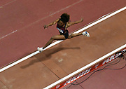Mar 5, 2017; Albuquerque, NM, USA; Tori Franklin wins the women's triple jump at 45-5 3/4 (13.86m) during the USA Indoor Championships at the Albuquerque Convention Center.