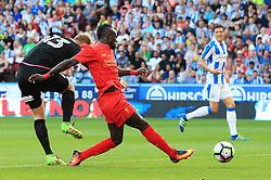 Sadio Mane of Liverpool scores from an error by Joel Coleman of Huddersfield Town but the goal is disallowed - Mandatory by-line: Matt McNulty/JMP - 20/07/2016 - FOOTBALL - John Smith's Stadium - Huddersfield, England - Huddersfield Town v Liverpool - Pre-season friendly