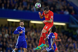 LONDON, ENGLAND - Friday, September 16, 2016: Liverpool's Dejan Lovren in action against Chelsea during the FA Premier League match at Stamford Bridge. (Pic by David Rawcliffe/Propaganda)