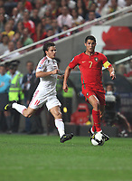 20091010: LISBON, PORTUGAL - Portugal vs Hungary: World Cup 2010 Qualifying Match. In picture: Cristiano Ronaldo (Portugal) vs Szabolcs (Hungary). PHOTO: Carlos Rodrigues/CITYFILES