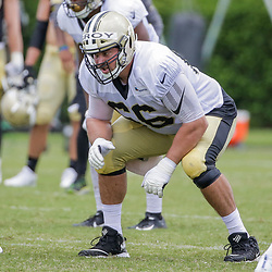 Jul 28, 2019; Metairie, LA, USA; New Orleans Saints center Erik McCoy (78) during training camp at the Ochsner Sports Performance Center. Mandatory Credit: Derick E. Hingle-USA TODAY Sports