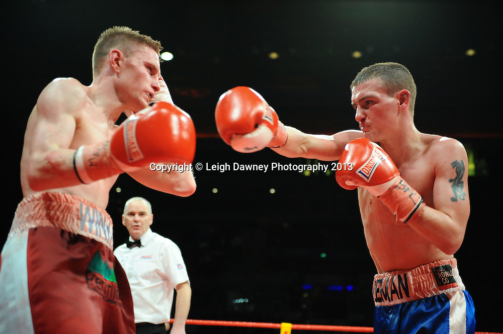 Kevin Satchell defeats Luke Wilton in a 12x3 round bout for the British Flyweight Title at the Echo Arena, Liverpool, United Kingdom on the 23rd February 2013. Frank Maloney Promotions. © Leigh Dawney Photography 2013Kevin Satchell defeats Luke Wilton in a 12x3 round bout for the British Flyweight Title at the Echo Arena, Liverpool, United Kingdom on the 23rd February 2013. Frank Maloney Promotions. © Leigh Dawney Photography 2013