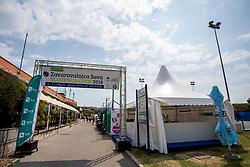 Info point at ATP Challenger Zavarovalnica Sava Slovenia Open 2018, on August 6, 2018 in Sports centre, Portoroz/Portorose, Slovenia. Photo by Urban Urbanc / Sportida