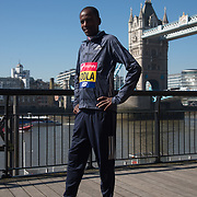 Guye Adola - Elite men photocall - Virgin Money London Marathon at Tower Hill on 19 April 2018, London, UK.