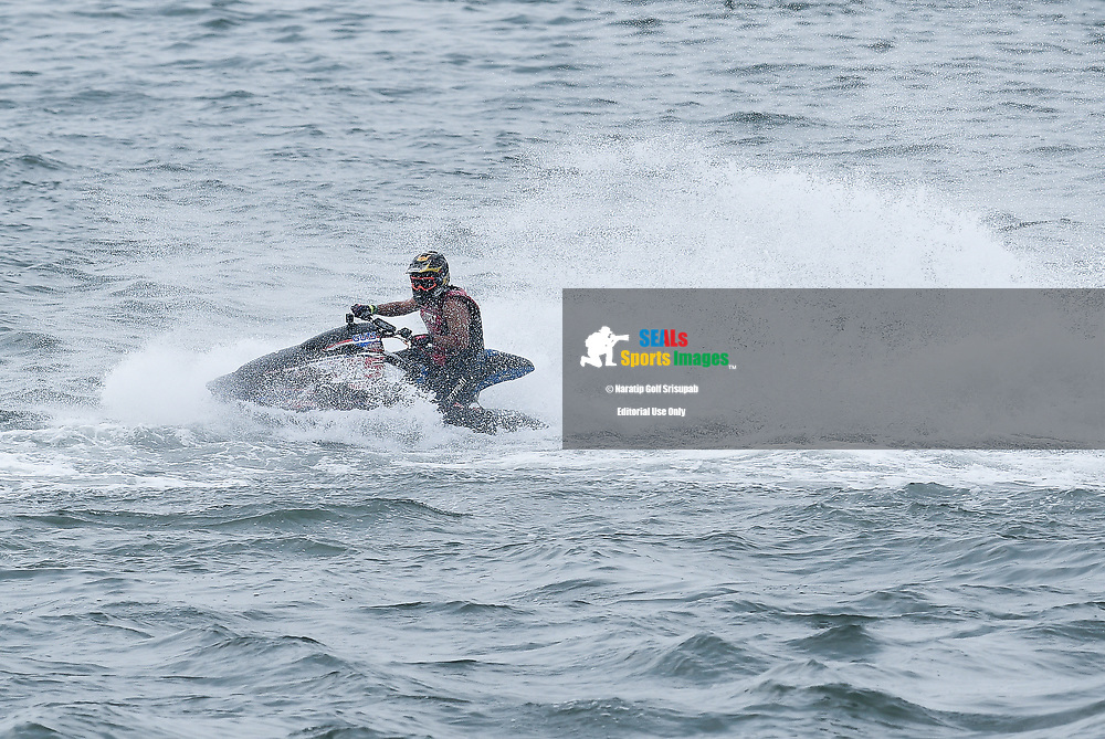 PATTAYA, THAILAND - DECEMBER 09: Ekachon Kingchansilp (T5) of Thailand and Freedom Racing Jet Ski Team in action during the Pro Sport GP Moto4 at the Thai Airways International Jet Ski World Cup 2018, Jomtien Beach, Pattaya, Thailand on December 09, 2018. <br /> .<br /> .<br /> .<br /> (Photo by: Naratip Golf Srisupab/SEALs Sports Images)<br /> .<br /> Any image use must include a mandatory credit line adjacent to the content which should read: Naratip Golf Srisupab/SEALs Sports Images