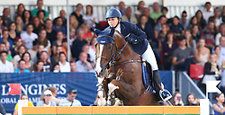 20.09.2014, Magna Racino, Ebreichsdorf, AUT, Vienna Masters 2014, Global Champions Tour Grand Prix, im Bild Jane Richard Philips auf Quister de Guldenboom (SUI) // during Vienna Masters 2014 Global Champions Tour Grand Prix at the Magna Racino, Ebreichsdorf, Austria on 2014/09/20. EXPA Pictures © 2014, PhotoCredit: EXPA/ Thomas Haumer