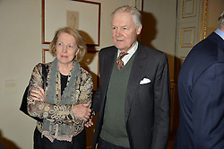 LONDON, ENGLAND 28 NOVEMBER 2016: Sir Anthony & lady Figgis at a reception to celebrate the publication of The Sovereign Artist by Christopher Le Brun and Wolf Burchard held at the Royal Academy of Art, Piccadilly, London, England. 28 November 2016.