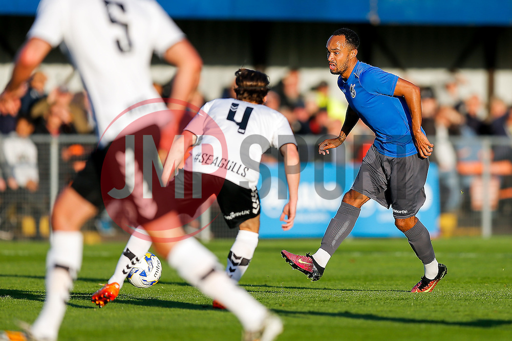 Byron Moore of Bristol Rovers in action - Mandatory by-line: Rogan Thomson/JMP - 13/07/2016 - SPORT - Football - Woodspring Stadium - Weston-super-Mare, England - Weston-super-Mare AFC v Bristol Rovers - Pre Season Friendly.