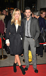 Laura Whitmore (left) and Giovanni Pernice attend the opening night of Fire in the Ballroom by dance company Burn the Floor at The Peacock in London.