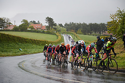 Christine Majerus (LUX) battles through the rain at ASDA Tour de Yorkshire Women's Race 2019 - Stage 2, a 132 km road race from Bridlington to Scarborough, United Kingdom on May 4, 2019. Photo by Sean Robinson/velofocus.com